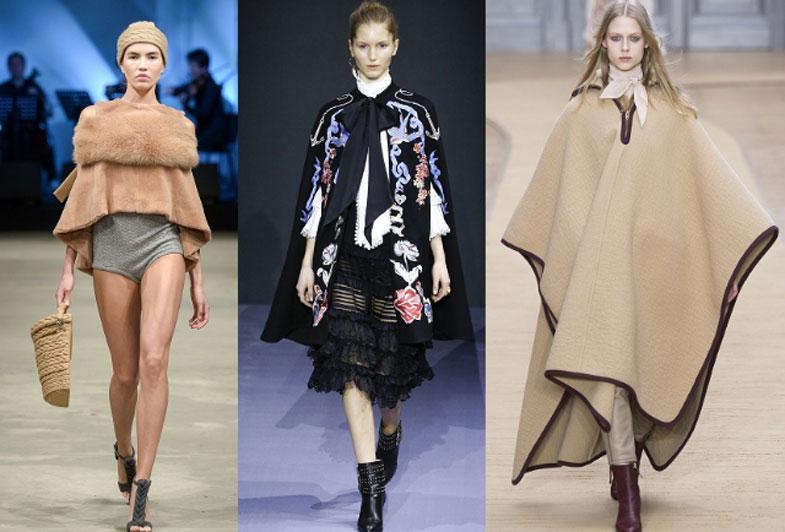 модные пончо весна 2017