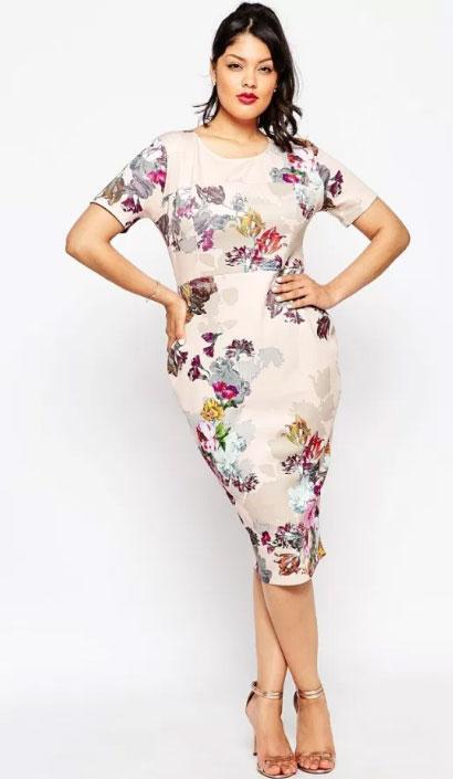 модные платья для полных весна 2017