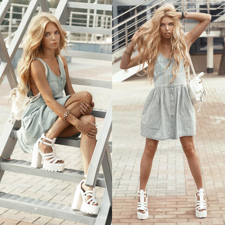 С чем носить белые туфли