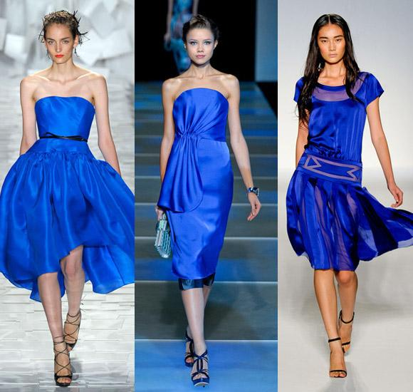 С какими туфлями носить синее платье
