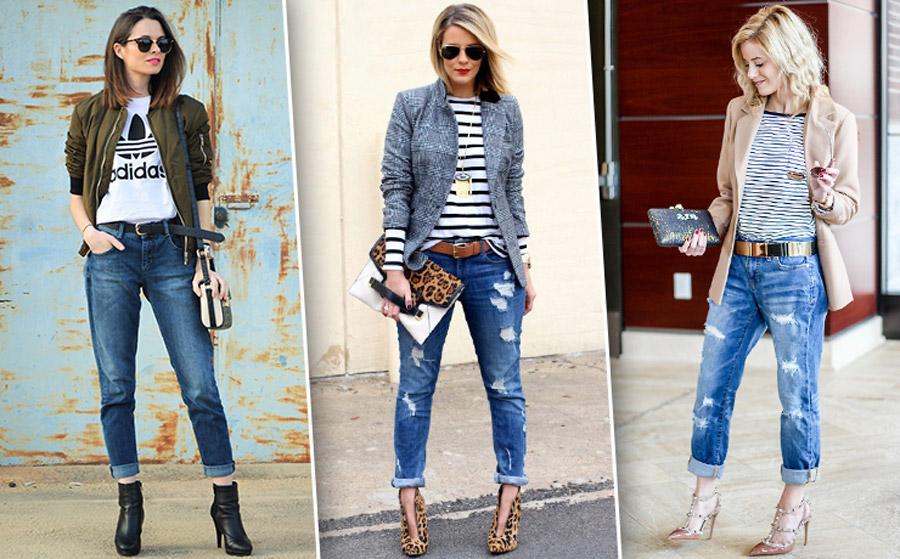 С чем носить джинсы бойфренды летом 2017