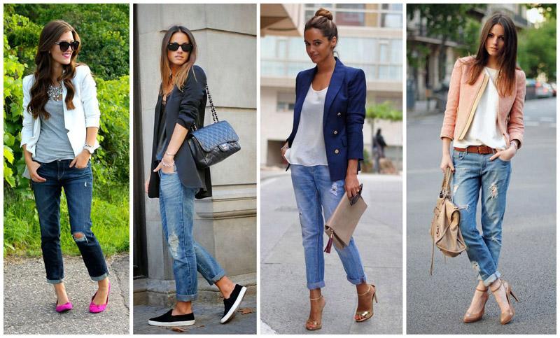 с чем носить джинсы бойфренды весной 2017