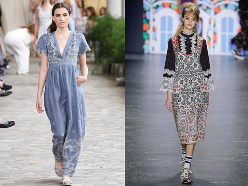 модные платья бохо 2017