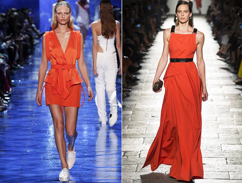 модный цвет платья лето 2017