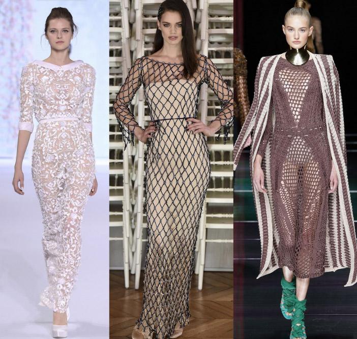 прозрачное платье мода 2017