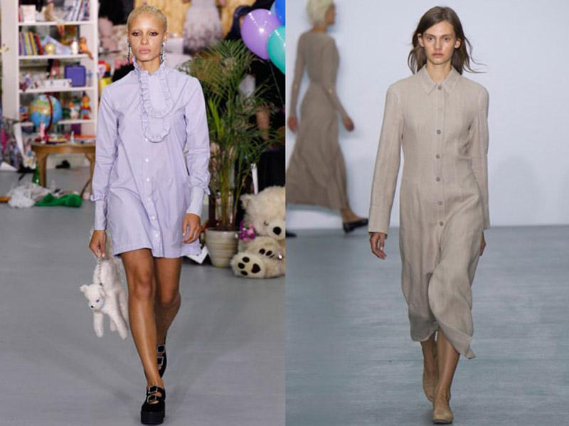 модное платье рубашка 2017
