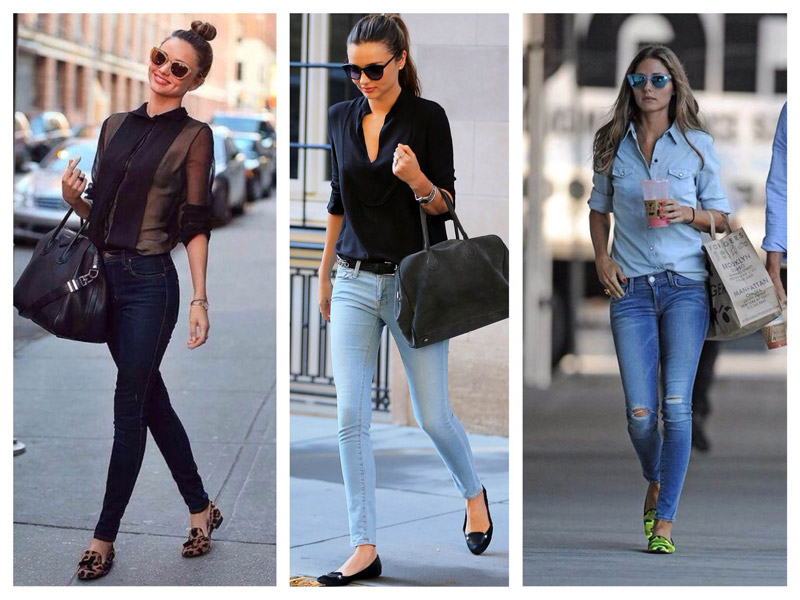 С чем носить короткие джинсы