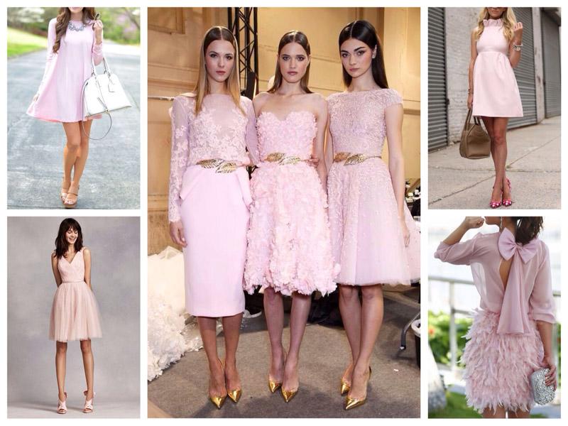 Какие туфли носить с розовым платьем