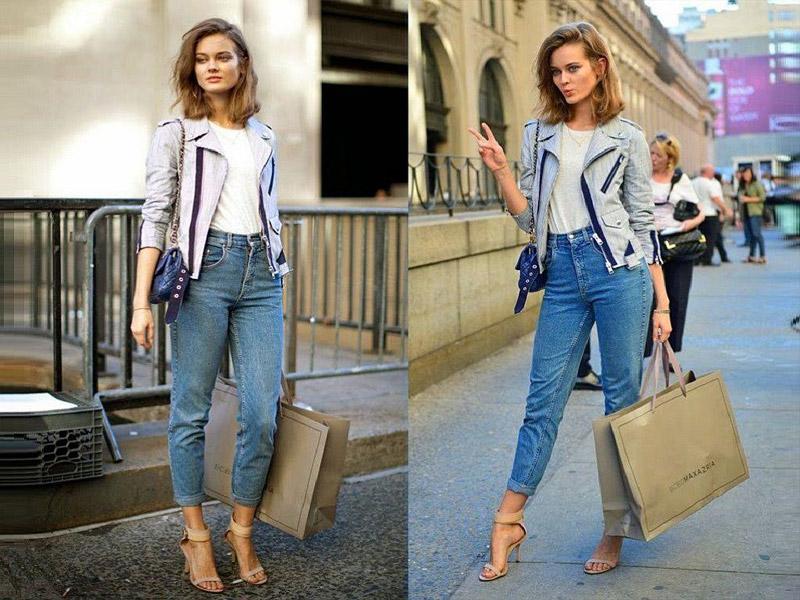 С чем носить джинсы mom