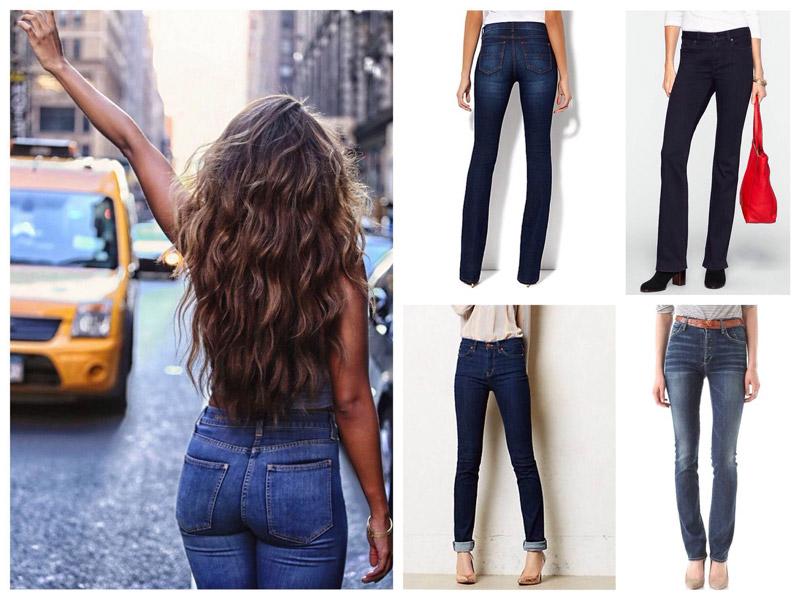 С чем носить прямые джинсы