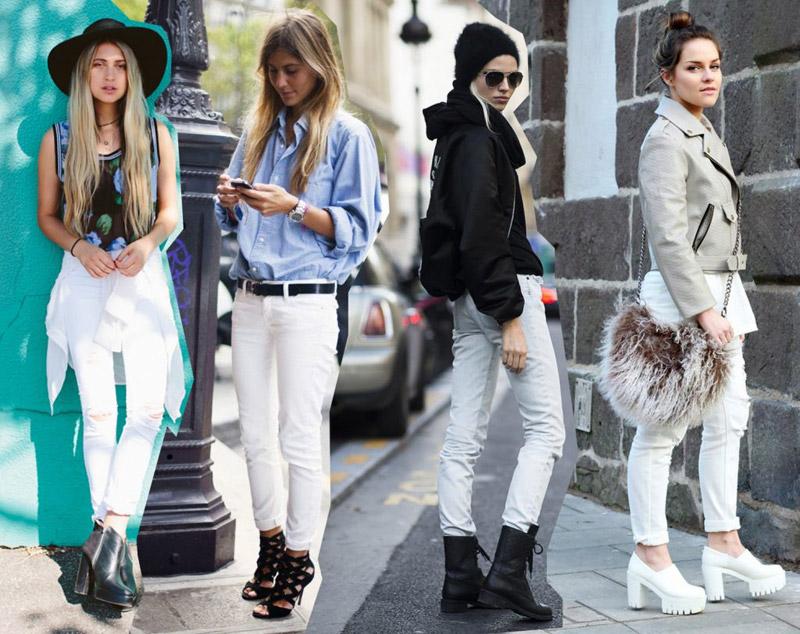 с чем носить короткие джинсы весной летом
