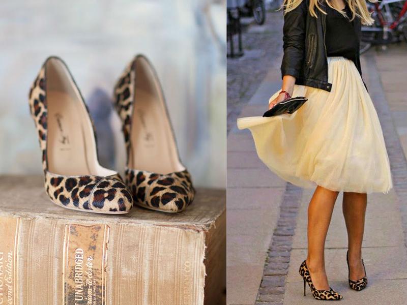 с чем носить леопардовые туфли