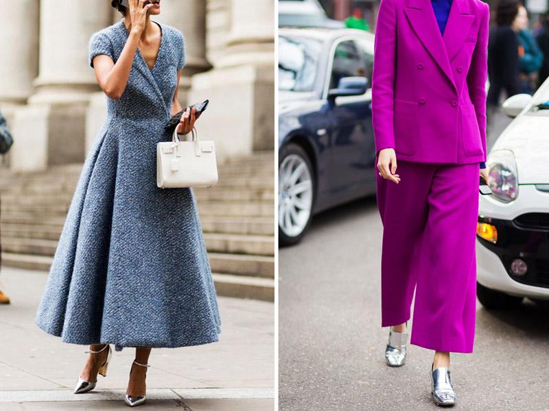 серебристые туфли с чем носить