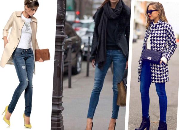 джинсы скинни модные сочетания