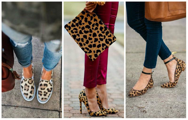 модные леопардовые туфли