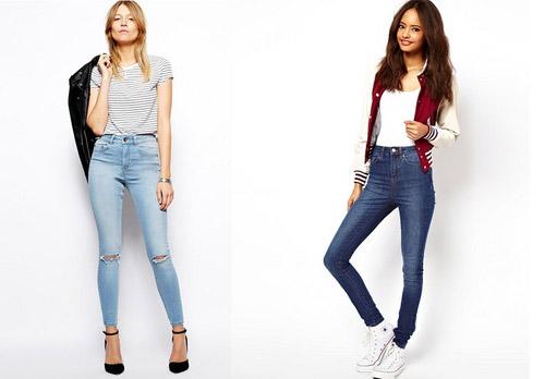 джинсы с высокой посадкой с чем носить