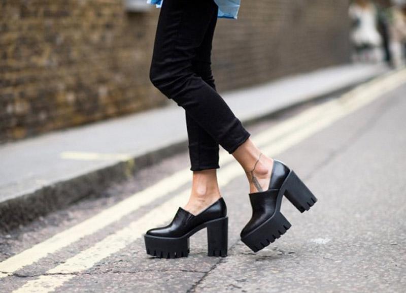 туфли на тракторной подошве мода