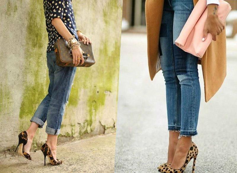 леопардовые туфли с чем носить
