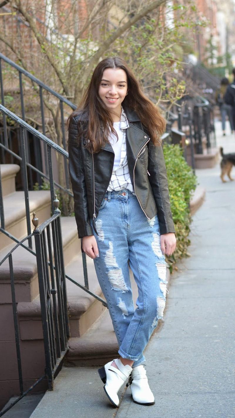 джинсы мом с чем нужно носить