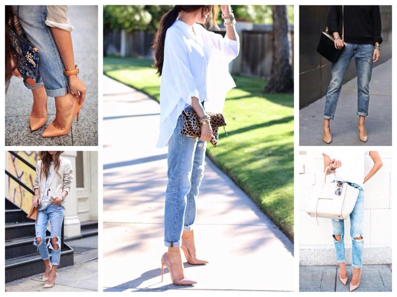 Модные туфли на каблуке
