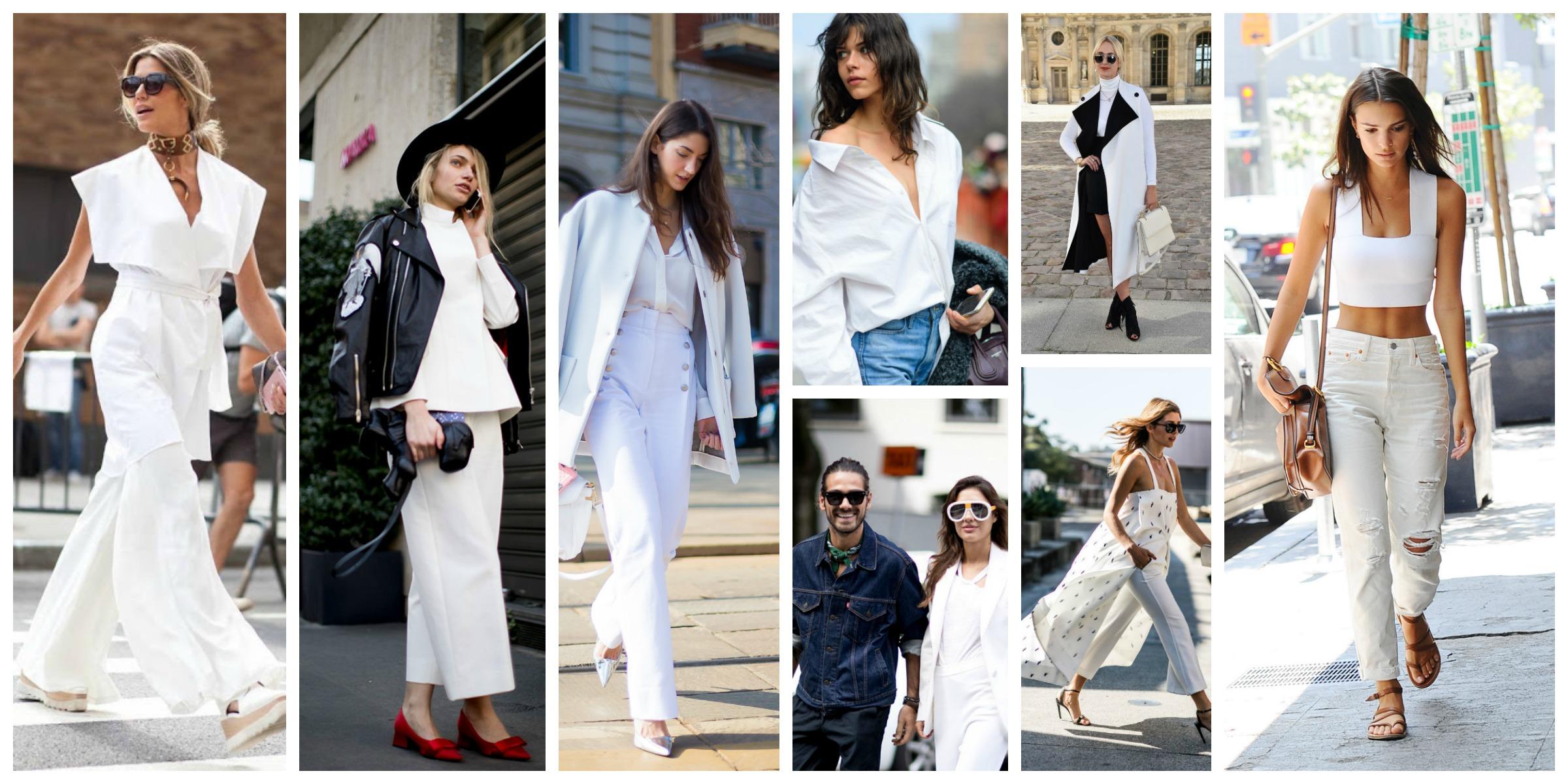 Как правильно носить белую одежду
