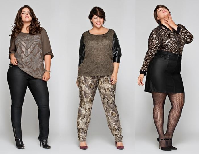 Женская одежда для стройных и пышных дам