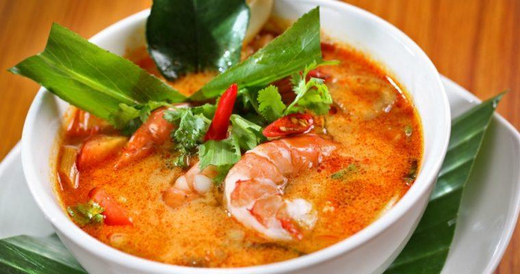 Рыбный суп с цукини и чили