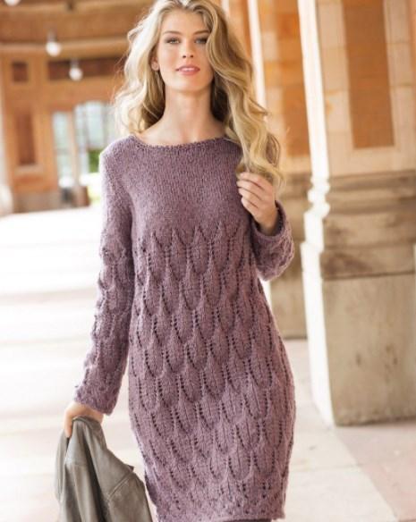 Вязаные платья — как выбрать, с чем носить