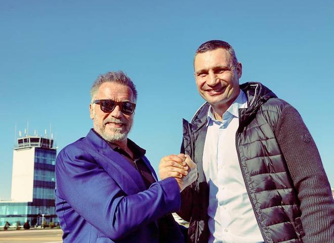 Впервые в Киеве побывал знаменитый голливудский актер Арнольд Шварценеггер
