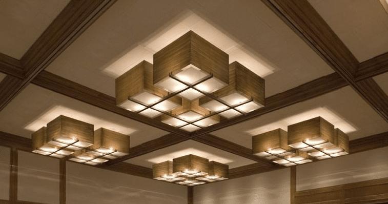 Потолочные осветительные приборы в жилом интерьере