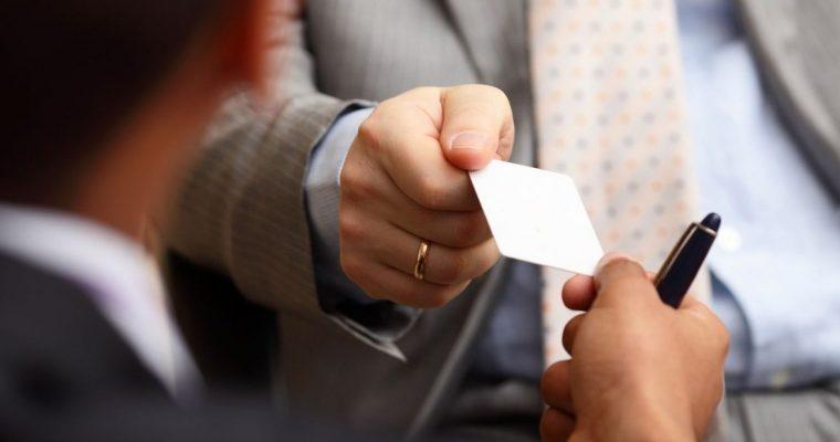 Требования к визиткам деловых людей