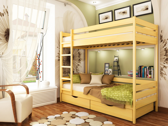 Преимущества и недостатки двухъярусных кроватей